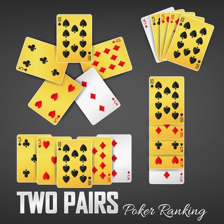 Two Pairs poker ranking casino sets