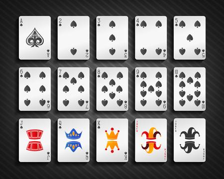 spade: Poker cards spade set Illustration