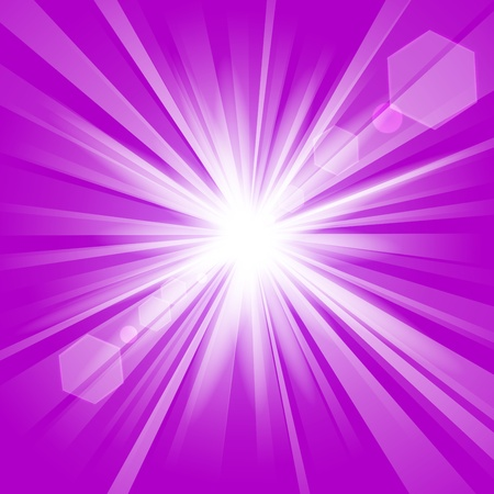 blinding: Violet shine with lens flare background Illustration