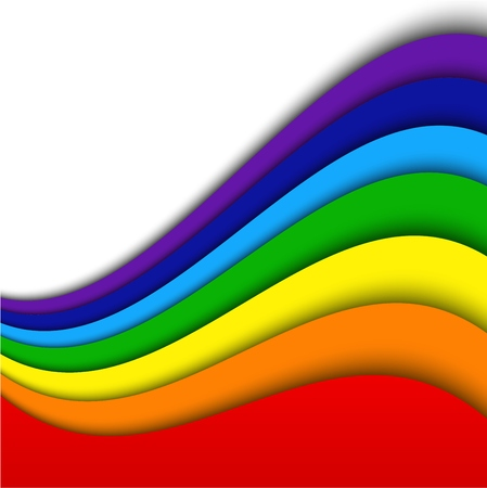 yellow paint: Abstract rainbow background