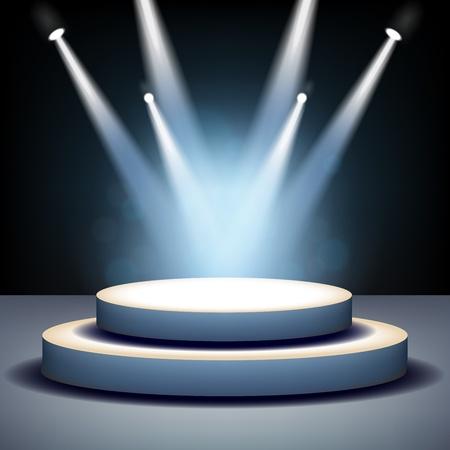 Spotlight shining on empty stage Stock Photo