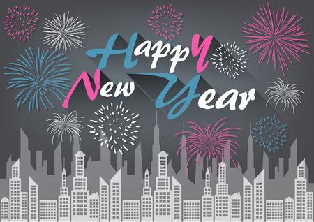 new year celebration: Happy New Year Celebration Background