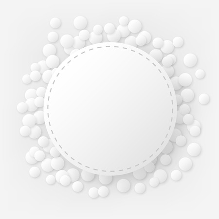 stitched: Round stitched celebration background with confetti