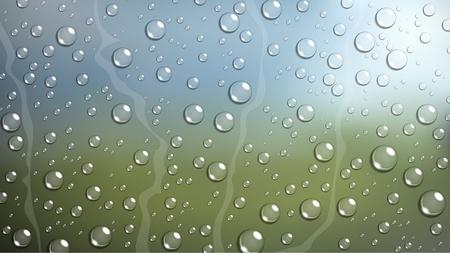 rain drop: Rain Drop on windshield car window with blurred nature