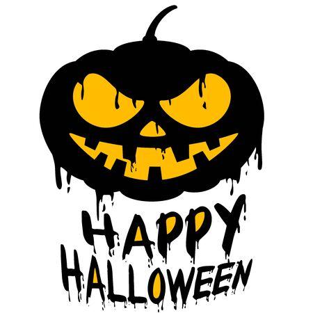 Happy Halloween with Jack o lantern pumpkin