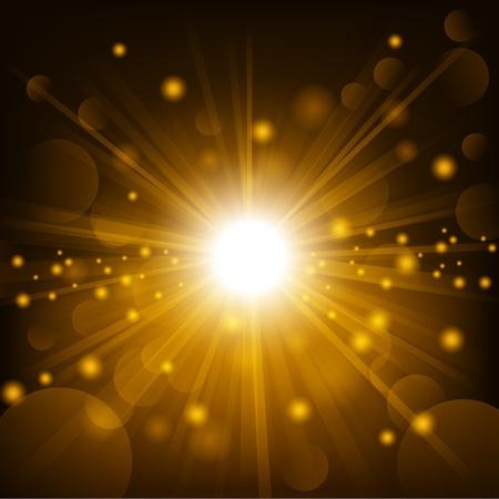 렌즈 플레어 배경으로 골드 빛 스톡 콘텐츠