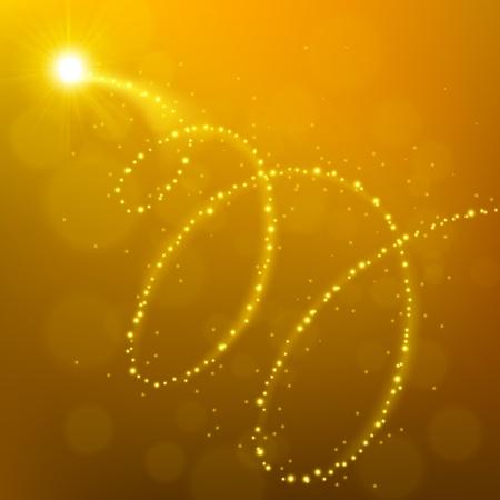 Golden  light flying background
