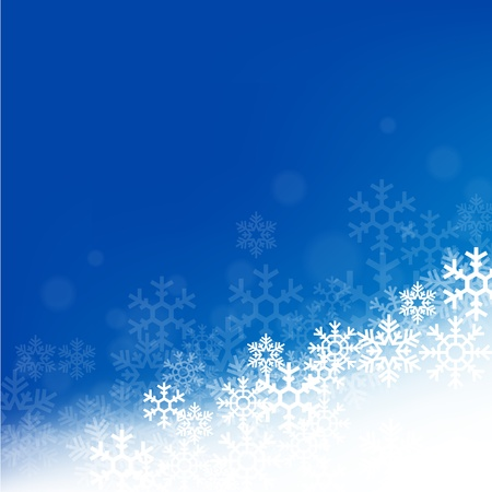 Winterhintergrund mit schönen verschiedenen Schneeflocken Standard-Bild - 94994374