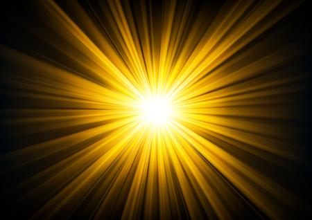 resplandor: la luz del oro que brilla de la oscuridad ilustración vectorial