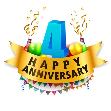Happy 4th Anniversary Celebration