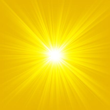 Gold light shining on bright background Vector illustration