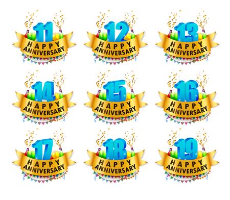 18 19 years: Happy Anniversary Celebration sets