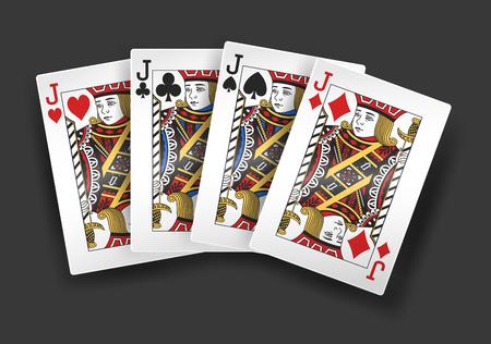 jacks: 4 of a kind Jacks poker playing card