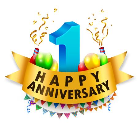 Gelukkige 1st Anniversary Celebration