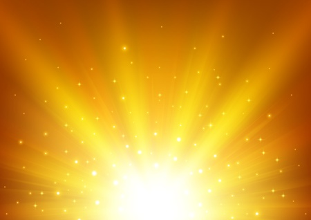 blinding: Illuminated gold light background