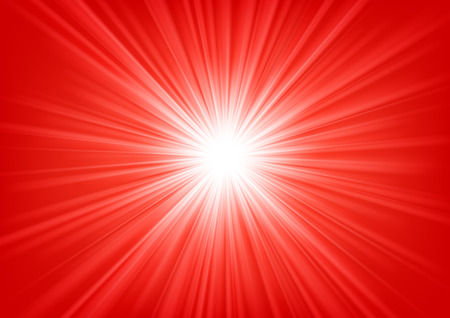 blinding: Red light shining on bright background Vector illustration