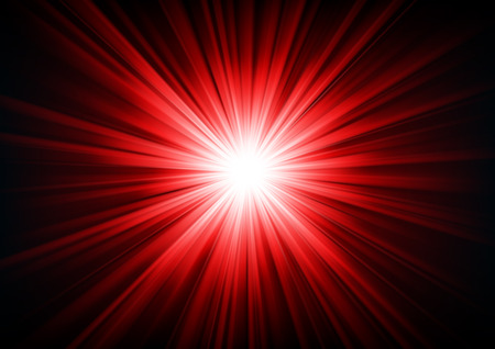blinding: Red light shining from darkness Vector illustration
