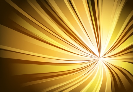 Abstract golden light twisted background