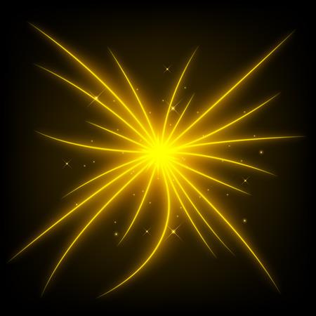 golden light: Abstract golden light beam