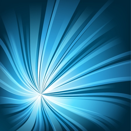 Abstract blue light twisted background Illustration