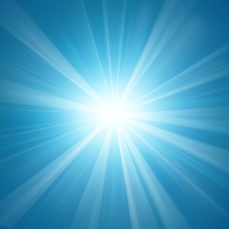 blinding: Illuminated blue light background Illustration