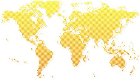Gold halftone world map vector illustration royalty free cliparts gold halftone world map vector illustration stock vector 67913631 gumiabroncs Images