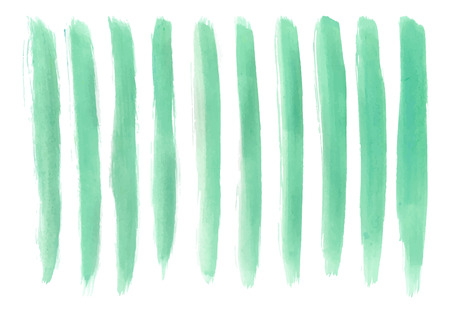 watercolor brush: Artistic Light sea green color paint hand made tracing from sketch Vector Illustration Illustration