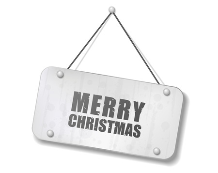 digest: Vintage old chrome sign with Merry Christmas text, Vector Illustration