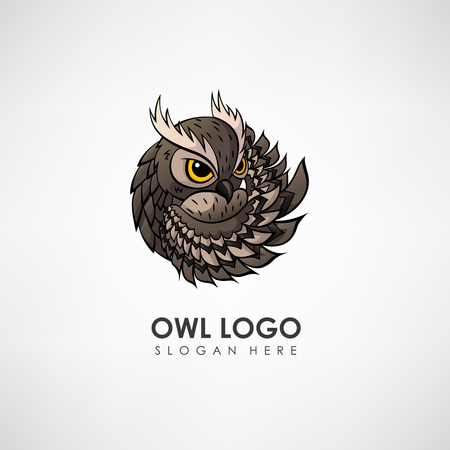 Owl concept logo template. Label for company or organization. Vector illustration Stock Vector - 73177654