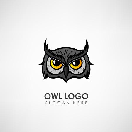 Owl head concept logo template. Label for company or organization. Vector illustration Stock Vector - 73480503