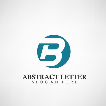 Resumen letra B logotipo. Adecuado para marcas comerciales, logotipo de la empresa y otros. Ilustración vectorial