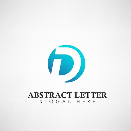 Logotipo de letra D abstracta. Adecuado para marcas comerciales, logotipo de la empresa y otros. Ilustración vectorial Logos