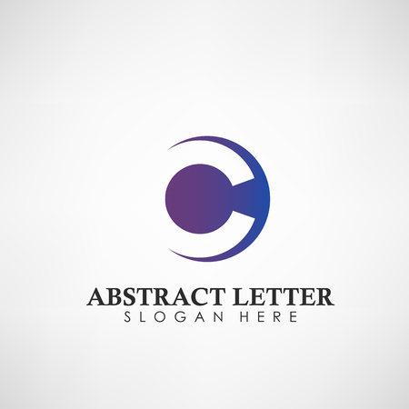 Abstract Letter C logotype. Suitable for trademarks, company logo, and other. Vector Illustration Illustration