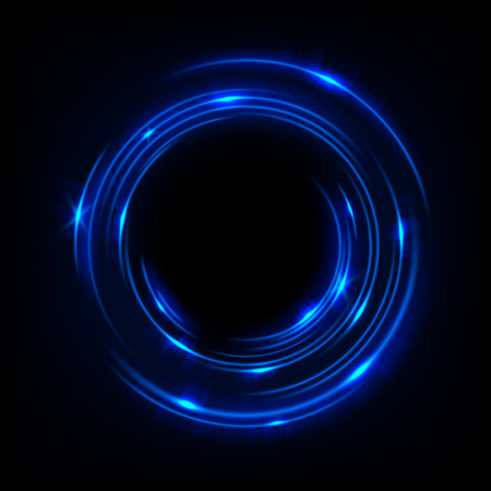 Rotating blue light shiny, Suitable for product advertising, product design, and other. Vector illustration
