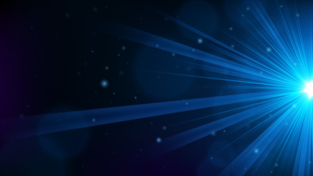 Blue light shining from the edge. Vector Illustration