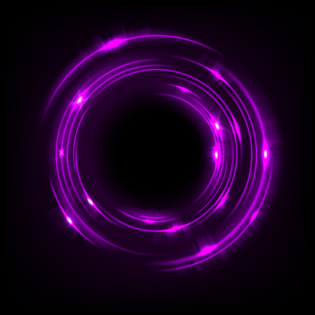 Rotating purple light shiny, Suitable for product advertising, product design, and other. Vector illustration Illustration