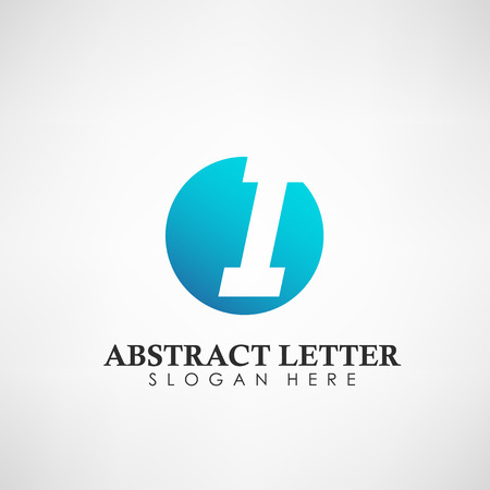 Abstract Letter I logotype. Suitable for trademarks, company logo, and other. Vector Illustration Logos