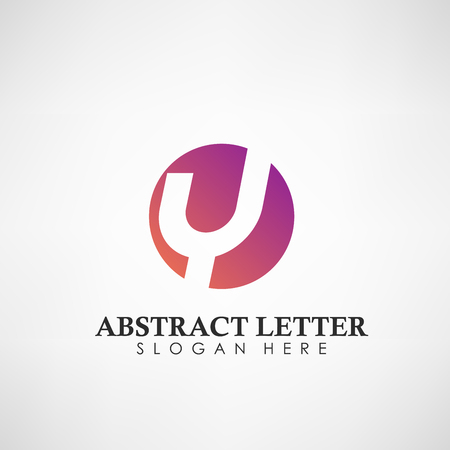 Abstract Letter Y logotype. Suitable for trademarks, company logo, and other. Vector Illustration Logos