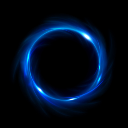 Round blue light twisted, Suitable for product advertising, product design, and other Illustration