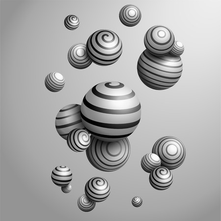 Abstract Decorative balls. 3D Vector Illustration 向量圖像