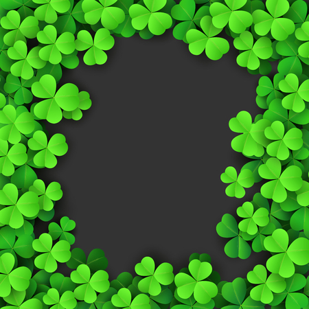 Clover leaves background. Suitable for Saint Patricks Day, nature concept, and other 向量圖像
