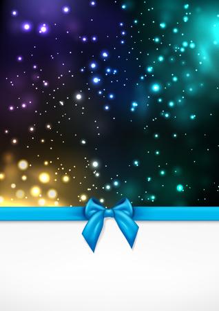 Abstract sparkling lights greeting card. Vector Illustration