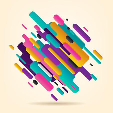 Abstract rounded shape modern style. Vector Illustration