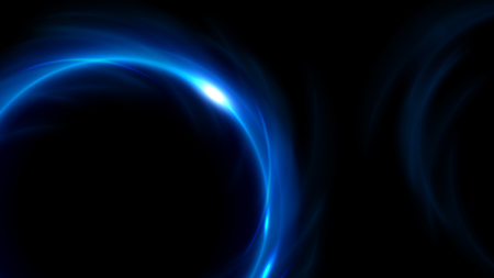 Blue light twisted in widescreen. Vector Illustration