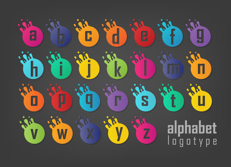 Abstract Letters logotype set. Suitable for trademarks, company logo, and other. Vector Illustration 向量圖像