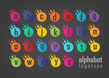 Conjunto de logotipo de letras abstractas. Adecuado para marcas comerciales, logotipo de empresa y otros. Ilustración vectorial