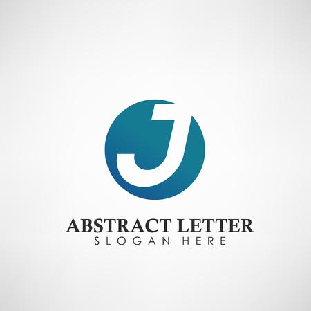 Logotipo abstracto de la letra J. Adecuado para marcas comerciales, logotipo de empresa y otros. Ilustración vectorial Logos