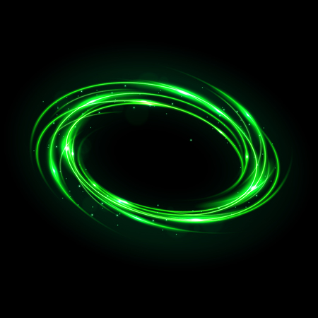 Round green light twisted, Suitable for product advertising, product design, and other. Vector Illustration