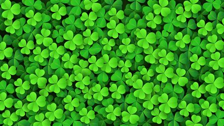 Clover leaves background. Suitable for Saint Patrick's Day, nature concept, and other. Vector Illustration 向量圖像