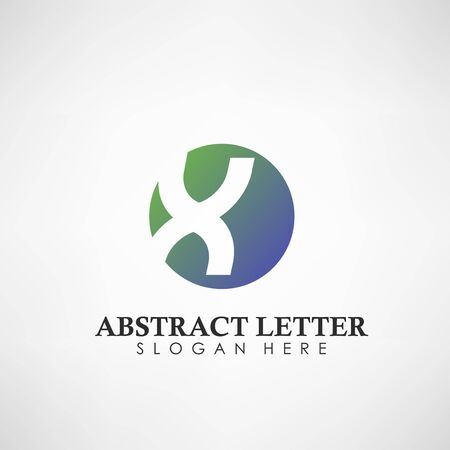 Abstract Letter X  . Suitable for trademarks, company  , and other. Vector Illustration 向量圖像